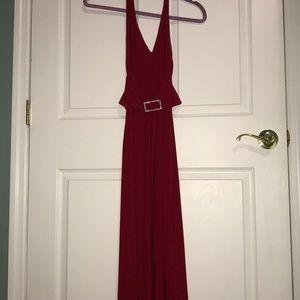 Dresses & Skirts - ♥️Red Halter Gown♥️